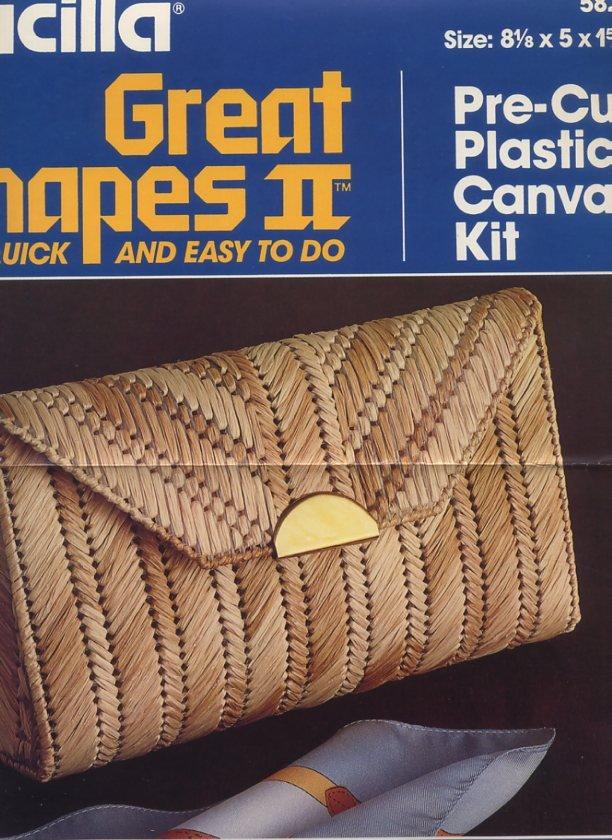 Bucilla Plastic Canvas Straw Elegance Clutch Bag Pattern