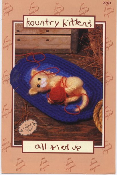 Annie S Attic Crochet Kountry Kittens All Tied Up Pattern 2763