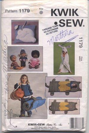 Sleeping Bag, Bag, Pillow, Towel, Clothes Kwik Sew Pattern No 1179 Uncut