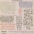 20 Backstitch Alphabets Mini Series #2 Cross Stitch Leaflet 407 Leisure Arts