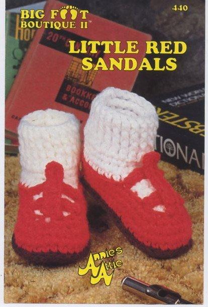 Annie S Attic Big Foot Boutique Ii Little Red Sandals