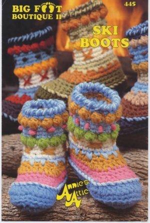 Annies Attic Big Foot Boutique Ii Ski Boots Crochet Pattern 445