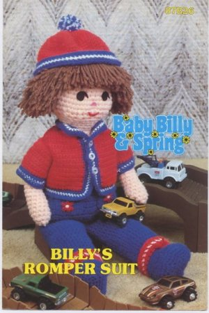 Annie's Attic Baby Billy & Spring Billy's Romper Suit Crochet Pattern 87B26