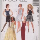 McCall's 7990 Misses Lined Top and Skirts in Two Lengths Pattern Size C (10, 12, 14) Uncut