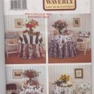 Butterick 3341 At Home With Waverly Easy to Do Table Treatments & Chair Back Covers Patterns - Uncut