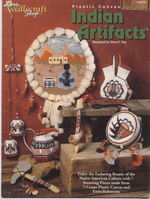 Plastic Canvas Indian Artifacts Patterns - The Needlecraft Shop 943375