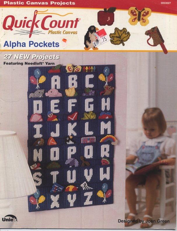 Quick Count Plastic Canvas Alpha Pockets Patterns - The Needlecraft Shop 3053027