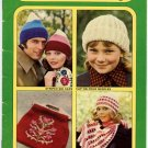 Patons Hats, Scarves & Bags -  Knit and Crochet - Beehive Book No. 404