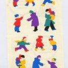 Mrs Grossmans People in Winter Coats Stickers #9D