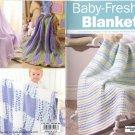 Baby-Fresh Blankets - Crochet , Leisure Arts Little Books 75143
