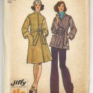 "Simplicity 6633 Misses' Jiffy Unlined Front-wrap Coat 2 Lengths Pattern Size 14 Bust 36"" - Uncut"