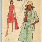 Very Easy Vogue Misses' and Half Size Dress and Jacket Pattern 8505 Size 12 Bust 34  - Uncut