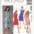 McCall's 3634 Misses'/Miss Petite Bias Dresses Pattern Size AAX (4, 6, 8, 10) - Uncut