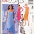 Easy McCall's 3231 Misses'/Miss Petite Dress in Two Lengths Pattern Size AAX (4, 6, 8, 10) - Uncut