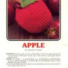 Annie's Attic Luscious Fruit Potholders Apple Crochet Pattern 348
