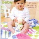 Designer Sport Baby - 11 Knit & Crochet Patterns - Coats & Clark - Art. J23, Book 0001