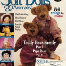 Soft Dolls & Animals! May 2001 cloth doll & animal patterns, techniques, how-to magazine