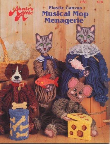 Annies's Attic Plastic Canvas Musical Mop Menagerie Patterns - 87R31