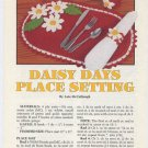 Annie's Attic Daisy Days Place Setting Crochet Pattern 87P21