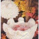 Annie's Attic Milk Glass Crochet Candy Dish Crochet Pattern 87Q07