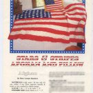 Annie's Attic Stars & Stripes Afghan and Pillow Crochet Pattern 87B53