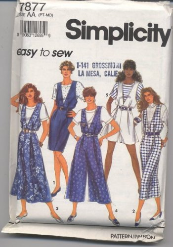 Simplicity 7877 Misses'/Miss Petite Jumpers and Top Pattern Sz AA (P-S-M) - Uncut