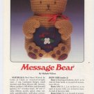 Annie's Attic Message Bear Crochet Pattern 8B005