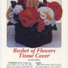 Annie's Attic Basket of Flowers Tissue Cover Crochet Pattern 8B002