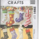 McCall's Crafts 2991 Christmas Stockings Pattern - uncut