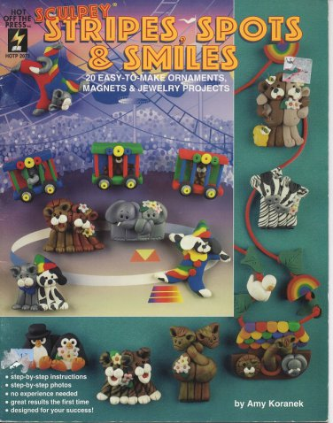 Sculpey Stripes, Spots & Smiles Book - Hot off the Press HOTP 2073