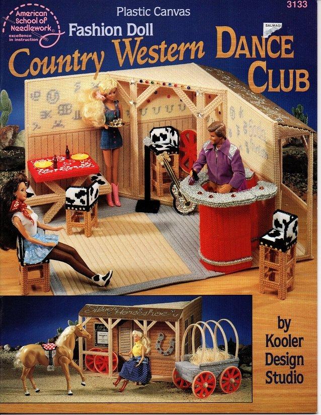 Plastic Canvas Fashion Doll Country Western Dance Club Book American School of Needlework No. 3133