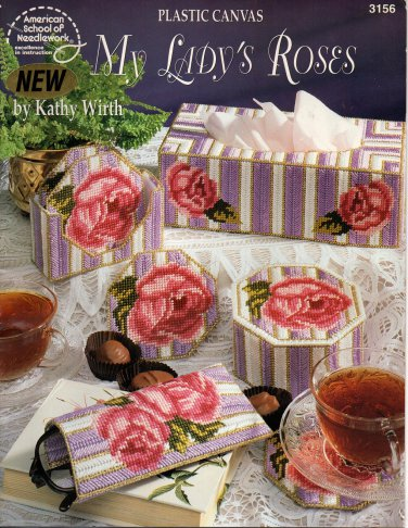 Plastic Canvas My Lady's Roses - American School of Needlecraft 3156