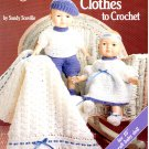 Twin Baby Doll Clothes to Crochet - American School of Needlework Crochet Book 1155