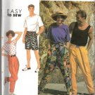 Simplicity 7183 Misses' Men's or Boys' Pants or Shorts Pattern - Size A - (XS - XL) - Uncut