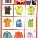 Butterick 5373 Misses'/Misses' Petite Shirt & Tank Top Pattern Size 12-14-16 Uncut