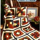 Annie's Attic Quilt Afghan & Pillow Crochet Pattern 8B042
