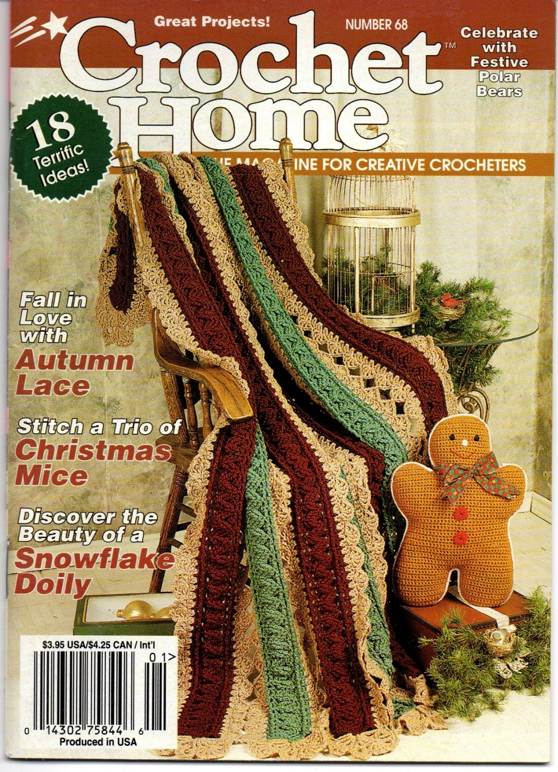 Crochet Home Dec Jan 1999 Number 68 Magazine