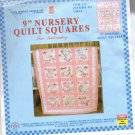 "9"" Nursery Quilt Squares for Embroidery Item 300 Pattern #21 Girls Jack Dempsey Needle Arts"