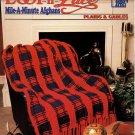Annie's Loop-n-Lace Mile-A-Minute Afghan Crochet Pattern Plaids & Cables 841A