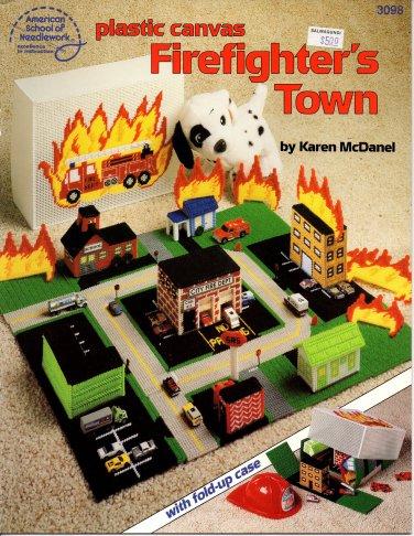Plastic Canvas Firefighter's Town Book American School of Needlework No. 3098