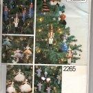 Nutcracker Christmas Ornaments Pattern - Vogue Patterns 2265 - Uncut