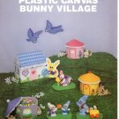 Plastic Canvas Bunny Village book - Needlecraft Ala Mode Leaflet 131