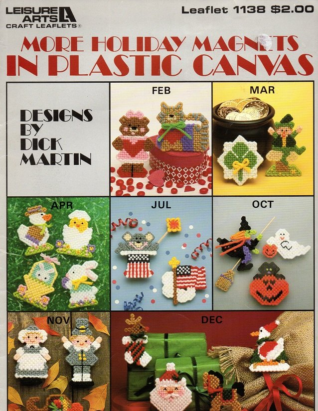 More Holiday Magnets in Plastic Canvas Patterns Leisure Arts 1138