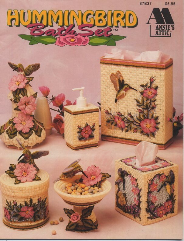 Annie S Attic Hummingbird Bath Set Pattern 87b37