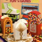 Plastic Canvas Fun'n Games Tissue Box Covers Patterns American School of Needlework 3103