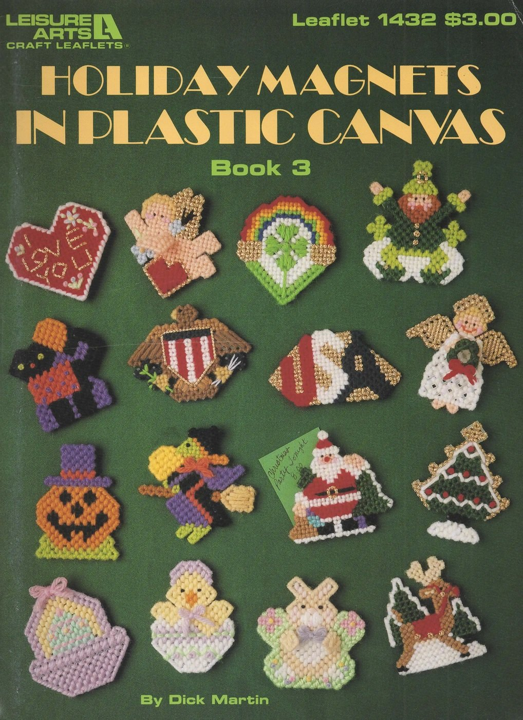 Holiday Magnets In Plastic Canvas Book 3 Leisure Arts