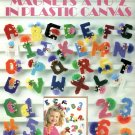Magnets A To Z in Plastic Canvas Pattern Leisure Arts 1501