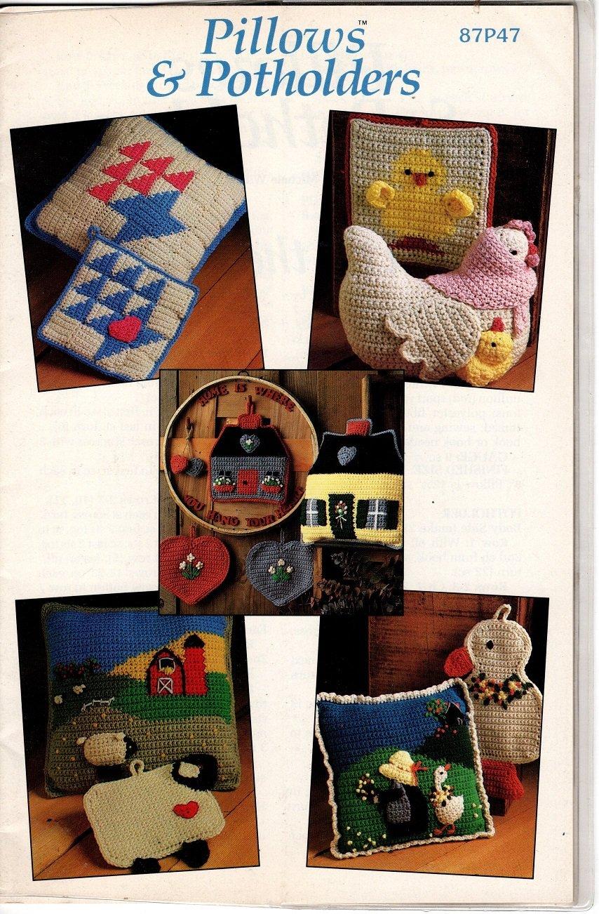 Annie S Attic Pillows Amp Potholders Crochet Patterns 87p47