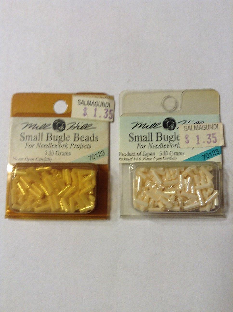 Mill Hill  70123 Cream Small Bugle Beads - 6mm Long
