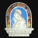 """[S65 A] 10""""X8,1-4"""" Italian Della Robbia wall plaque Madonna. Majolica, italy."""